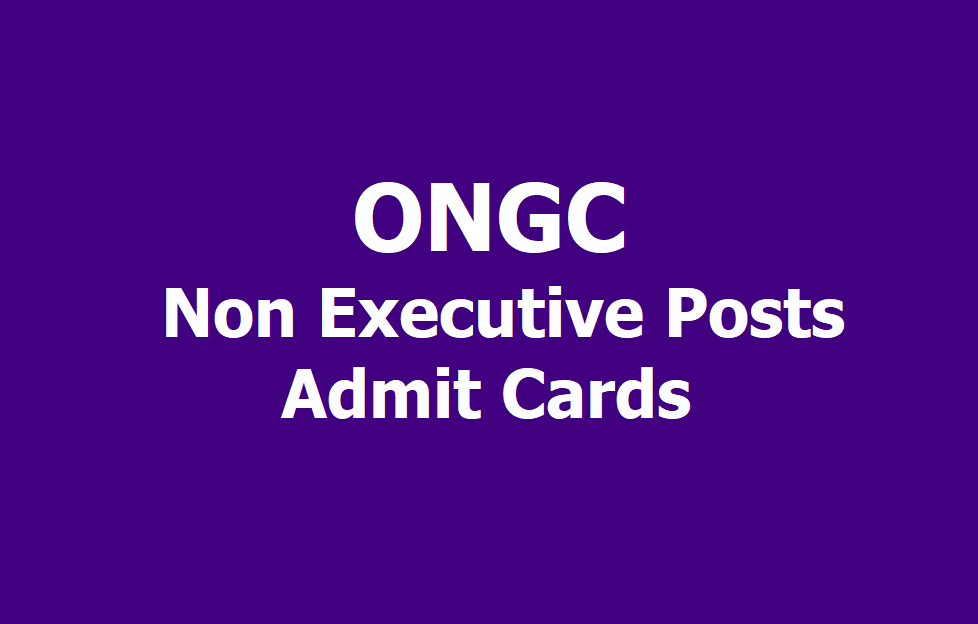 Image result for ONGC Gujarat & Rajasthan CBT Admit Card for Non-Executive Posts 2019