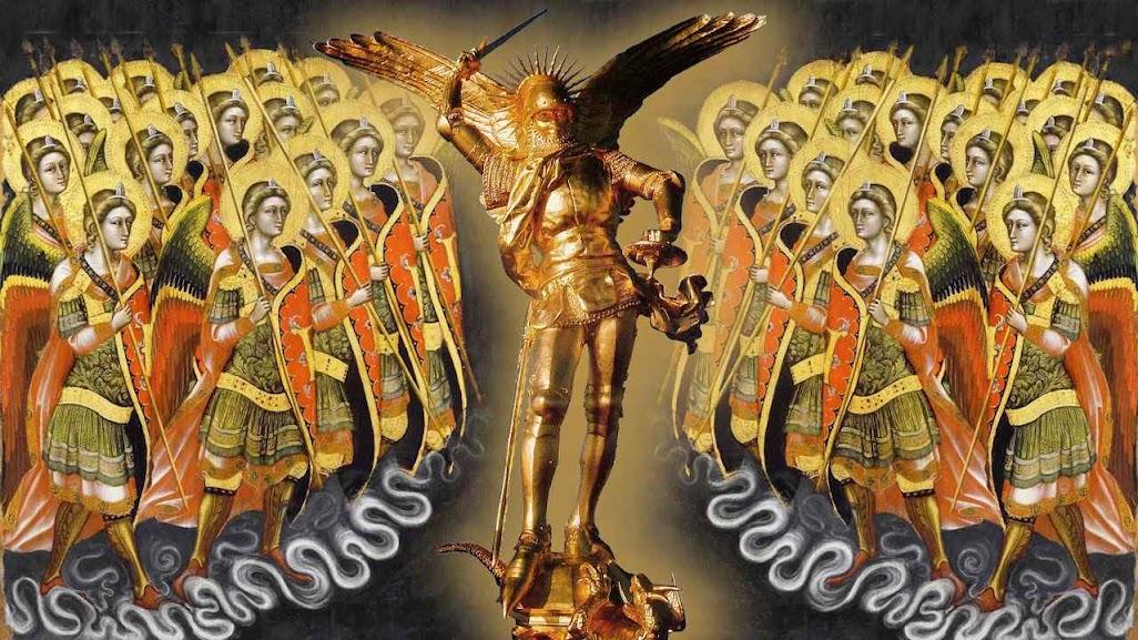São Miguel Arcanjo com coros angélicos. Guariento di Arpo (1310-1320 - 1368-1370)