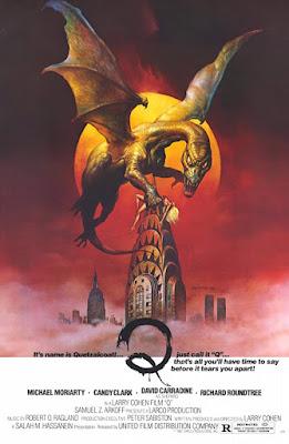 Póster película Q - La serpiente voladora - 1982