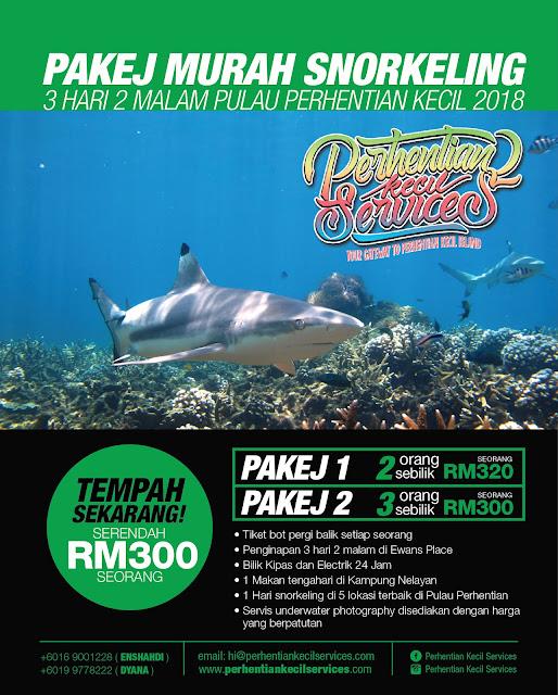 Pakej snorkeling Pulau perhentian Kecil Serendah RM300 seorang, Pakej pulau perhentian Kecil 2018
