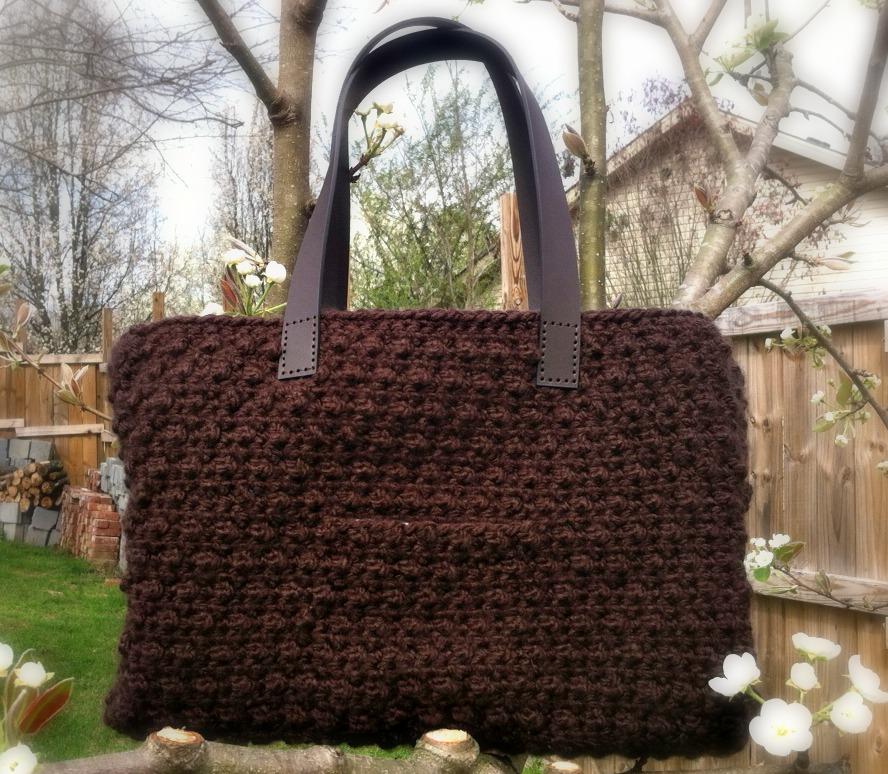 Chocolate Tote Free Crochet Pattern Amanda Saladin
