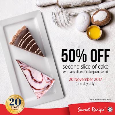 Secret Recipe Cake Half Price Promo