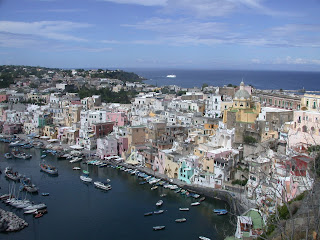 The picturesque harbour and historic centre of Procida