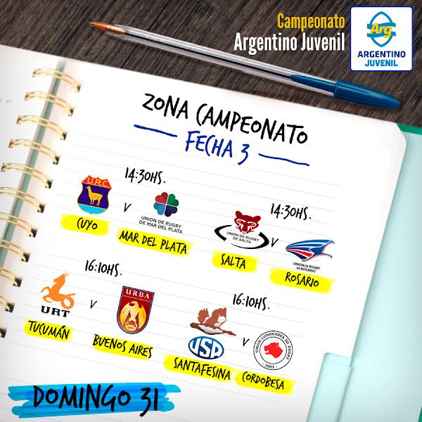 Tercera fecha de la Zona Campeonato del #ArgentinoJuvenil