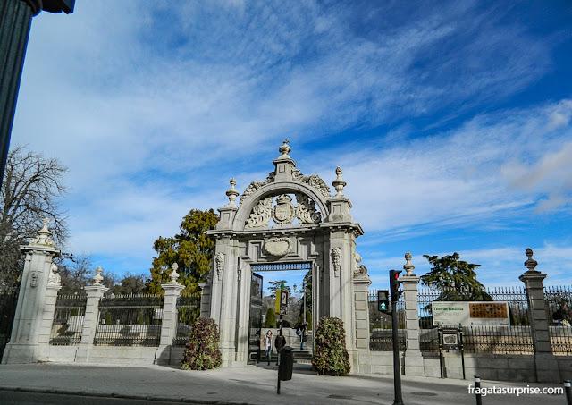 Entrada do Parque del Retiro, ao lado do Museu do Prado