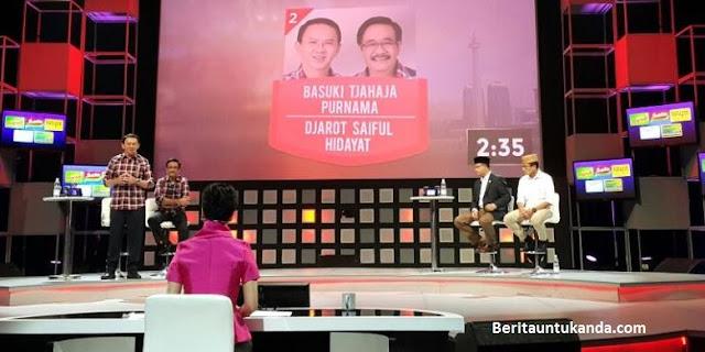 Pasangan Anies Baswedan-Sandiaga Uno dan Basuki Tjahaja Purnama-Djarot Saiful Hidayat