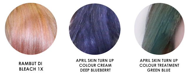 april skin turn up color treatment hair dye results
