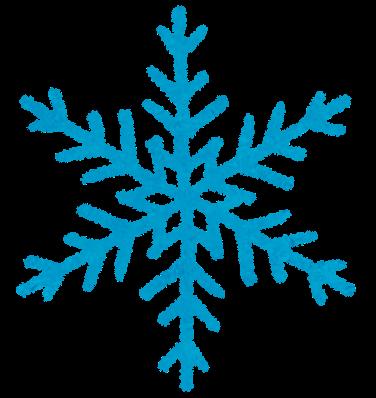 雪の結晶のアイコンマーク かわいいフリー素材集 いらすとや