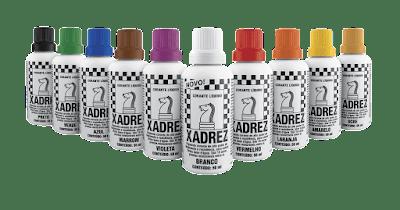 Embalagens de corante liquido marca xadrex