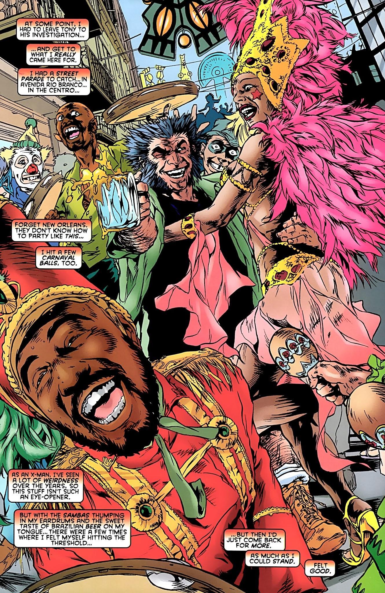 MEMÓRIA EM QUADRINHOS: O dia em que Wolverine foi curtir o Carnaval no Rio de Janeiro
