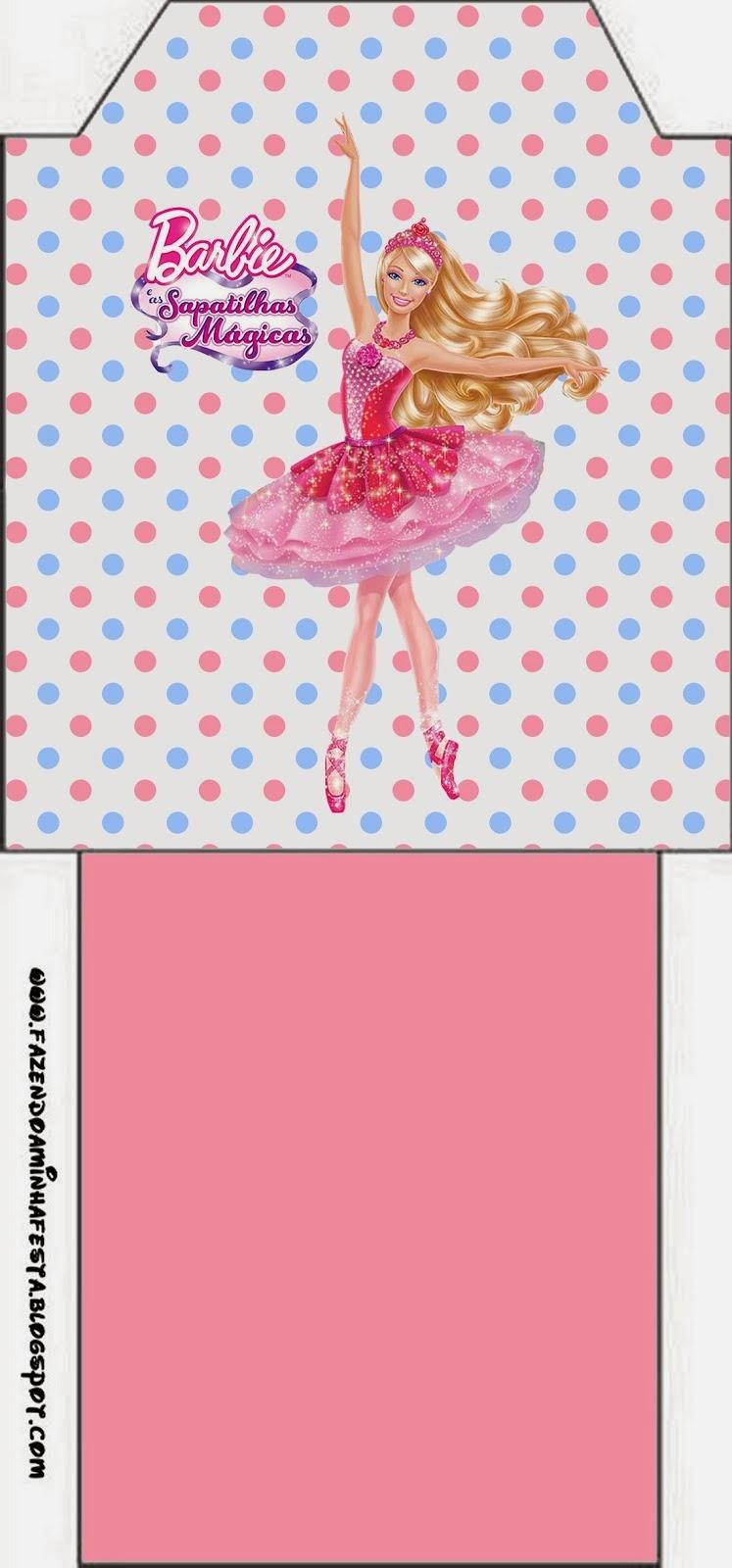 Barbie Magic Shoes Free Printable Tea Bag.