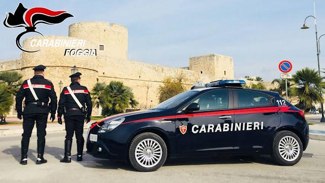 Manfredonia, i Carabinieri intercettano e recuperano un'auto rubata, aveva anche uno jammer a bordo