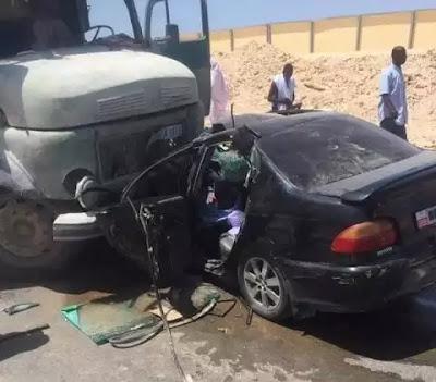 نواذيبو : وفاة 3 اشخاص في حادث سير ..- صور