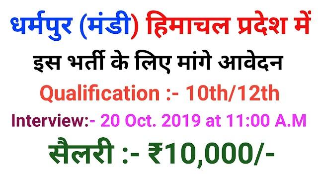 Himachal Pradesh Jobs 2019 -