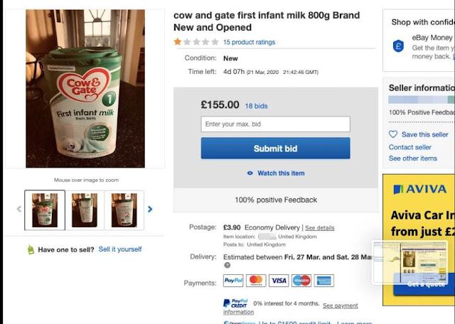 Находчивые англичане продают детское питание во время пандемии в двадцать раз дороже