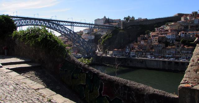 vista da Ponte Luis I e da Ribeira do Porto