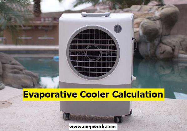 Evaporative Cooler Size Calculator Excel Sheet (xls)