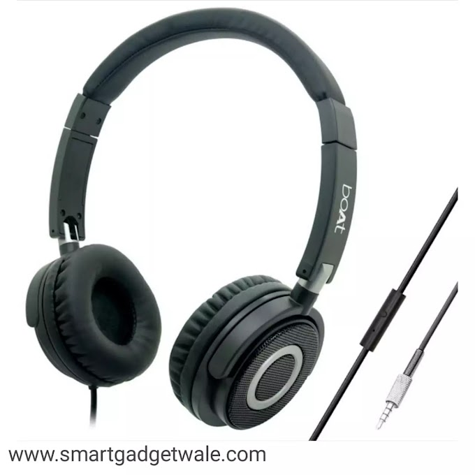 boAt Bassheads 900 On Ear Wired Headphones - Carbon Black