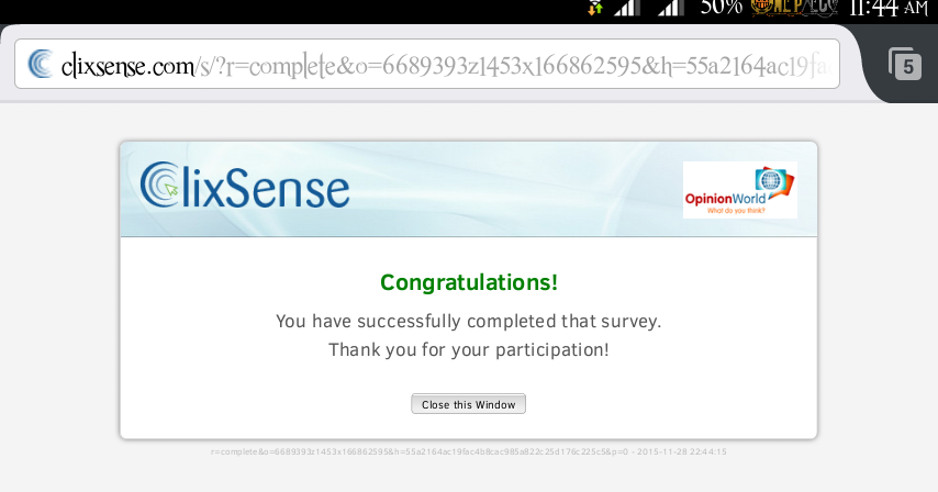 Completed a survey from mobile earn from spare time - Spare time gadgets ...
