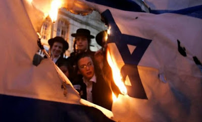 bendera israel dibakar