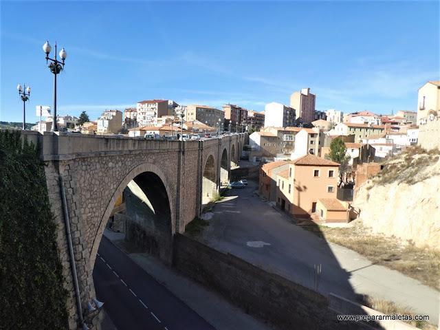 puentes hasta el casco histórico en Teruel