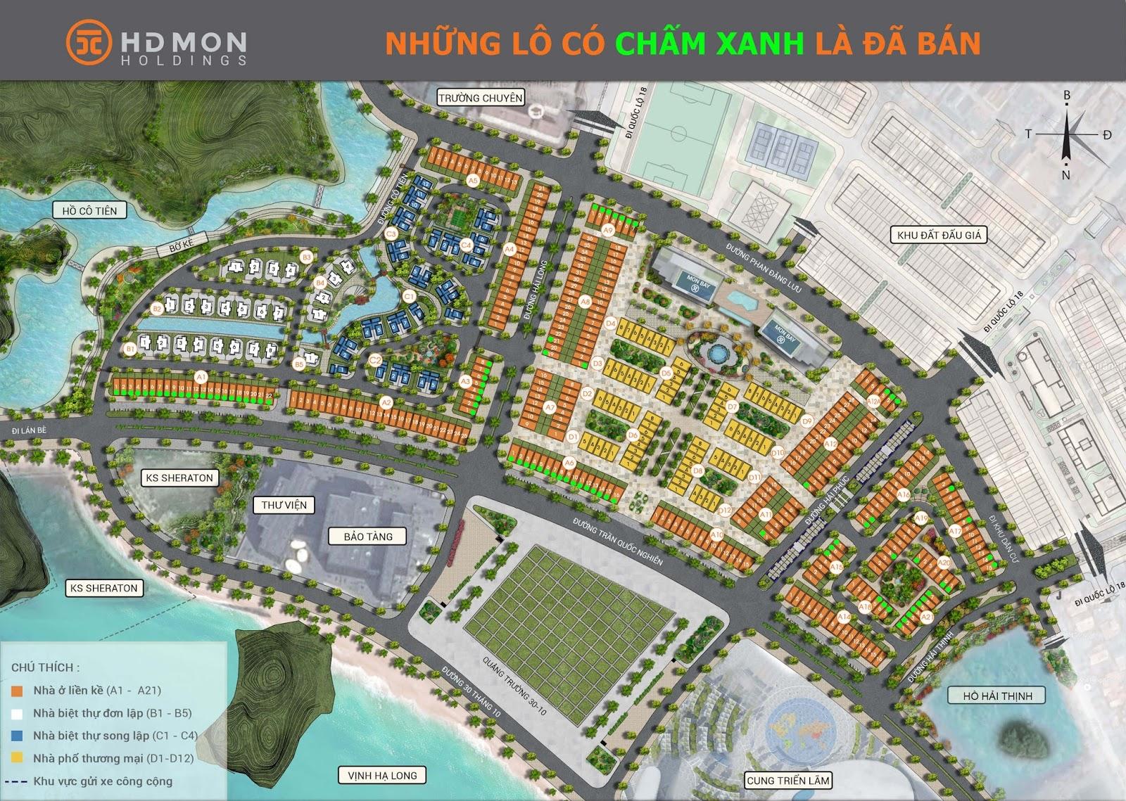 Tổng thể mặt bằng dự án Mon Bay Hạ Long
