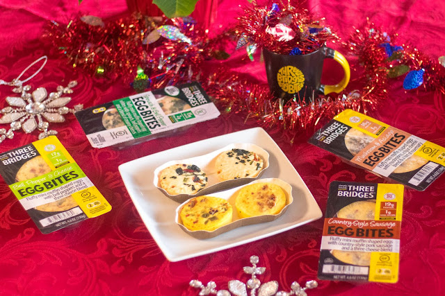 Christmas Reindeer Breakfast Recipe Featuring Three Bridges Egg Bites