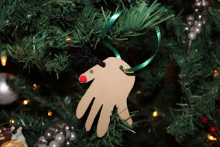 Handprint Reindeer Ornament
