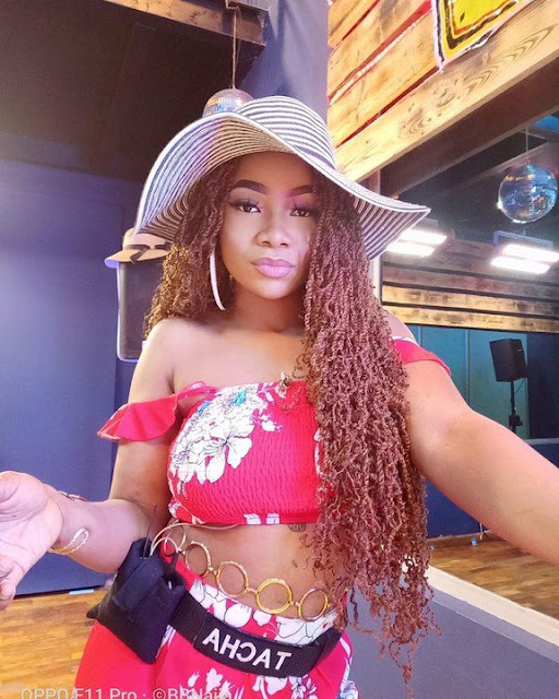 #BBNaija 2019: Tacha under criticism over burnt knuckles & face