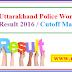 Uttarakhand Police Woman SI Result 2016 / Cutoff Marks
