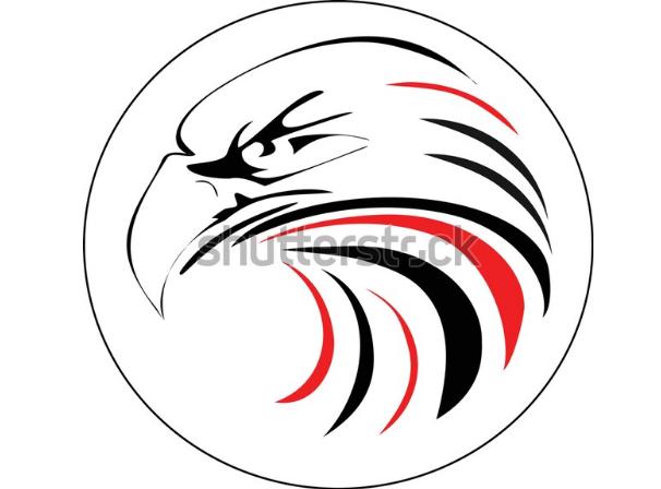 illustration tutorial regal eagle head
