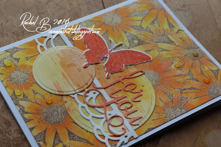 Scrapatout - Handmade card, For You, Impression Obsession, Flowers, Butterfly, Cover-A-Card