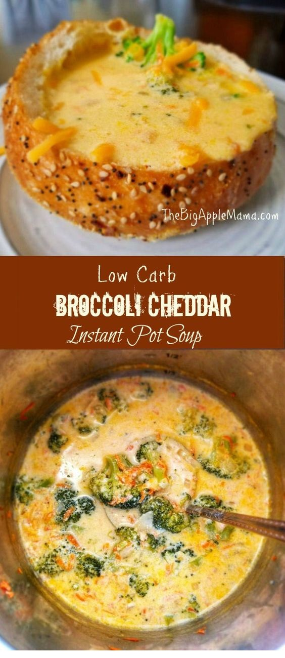 Easy Low Carb Broccoli Cheddar Instant pot soup