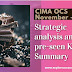 Strategic analysis video and Key Summary of OCS November 2019  - CIMA Operational case study