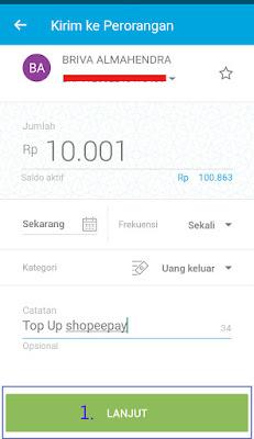 Cara Top Up Shopeepay Lewat Jenius Bank Btpn