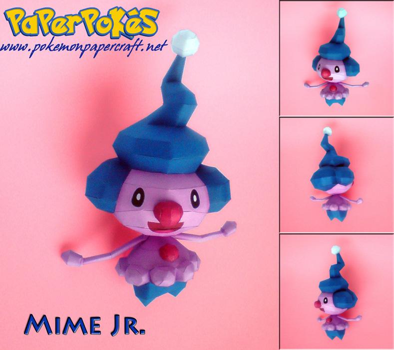 Paperpokés - Pokémon Papercraft  MIME JR d373c11a0c11