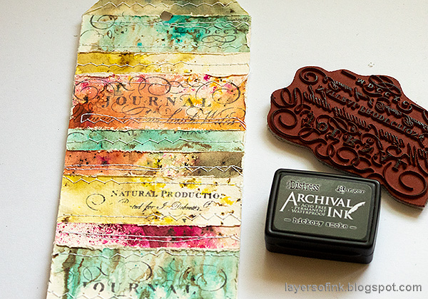 Layers of ink - Nautical Tag Tutorial by Anna-Karin Evaldsson. Stamp on the tag with Paper Artsy Scrapcosy 11.