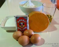 Bizcocho calabaza Receta fácil final ingredientes