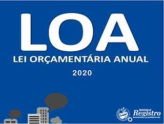 LOA 2020 em Registro-SP