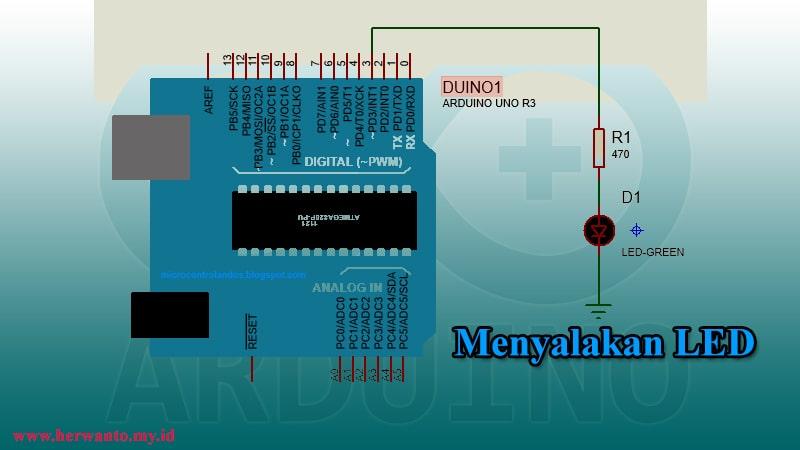 Rangkaian LED Arduino