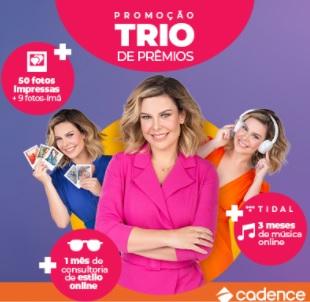 Cadastrar Promoção Trio de Prêmios Cadence 2021