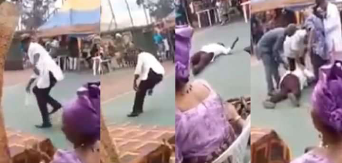 Man slumps and dies while dancing at an event in River State{VIDEO}