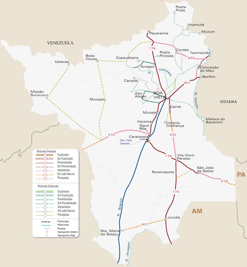 #Roraima | Mapas Geográficos de Roraima