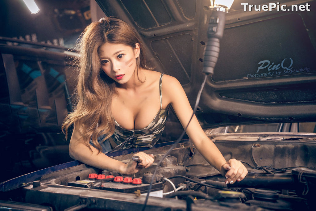 Image Taiwanese Model - PinQ憑果茱 - Hot Sexy Girl Car Mechanic - TruePic.net - Picture-9