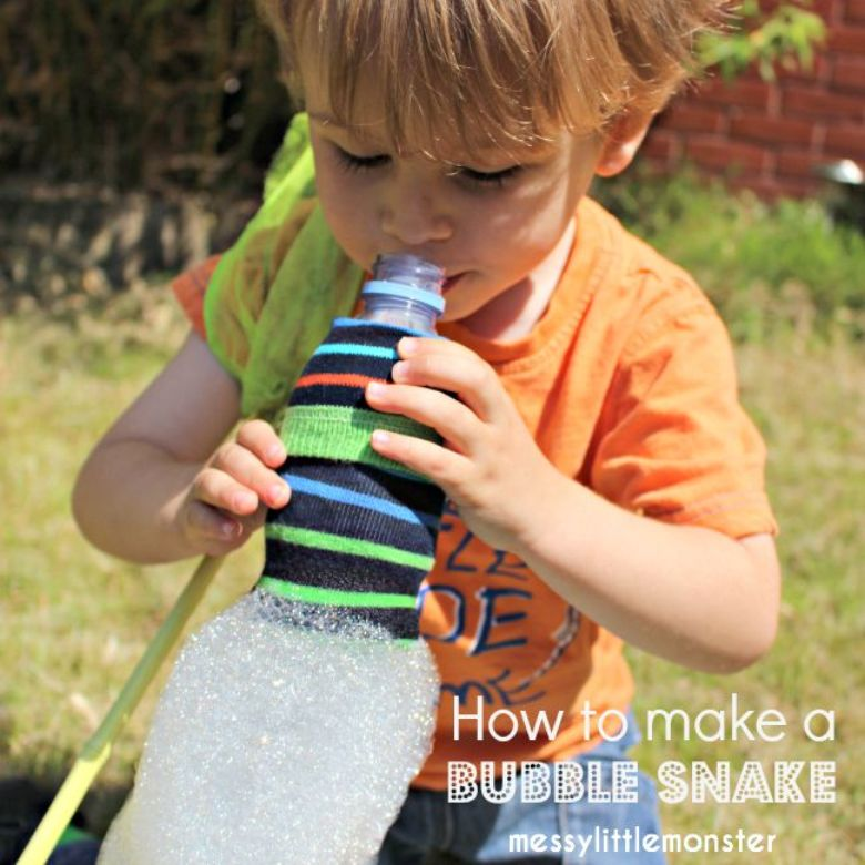 outdoor activities for kids - bubble snake