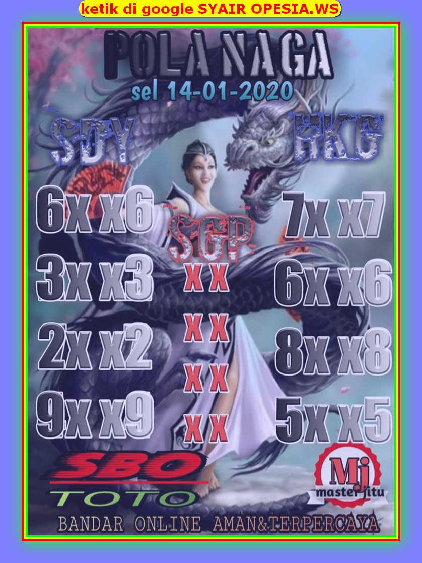 Kode syair Hongkong Selasa 14 Januari 2020 80