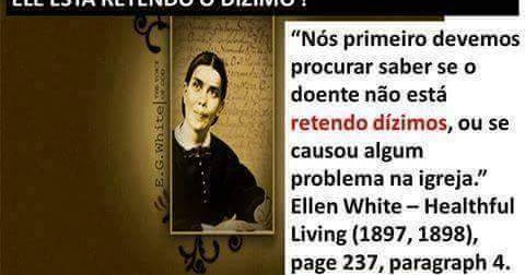 O EFEITO NOCEBO DO ADVENTISMO: Ellen White e o dízimo