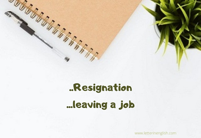 Resignation letter email samples in english