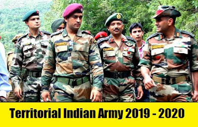 Territorial Indian Army Officers Notification 2019 - 2020 – For Male and Female