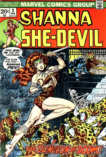 Shanna the She-Devil v1 #2 marvel 1970s bronze age comic book cover art by Jim Steranko